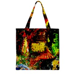 St Barbara Resort Grocery Tote Bag by bestdesignintheworld
