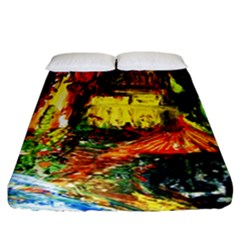 St Barbara Resort Fitted Sheet (california King Size) by bestdesignintheworld