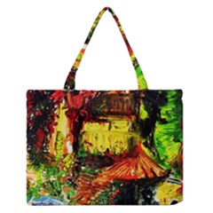 St Barbara Resort Zipper Medium Tote Bag