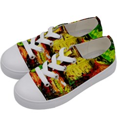 St Barbara Resort Kids  Low Top Canvas Sneakers by bestdesignintheworld