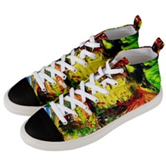 St Barbara Resort Men s Mid Top Canvas Sneakers by bestdesignintheworld