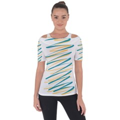 Twist Yellow Dark Green Short Sleeve Top by goodart