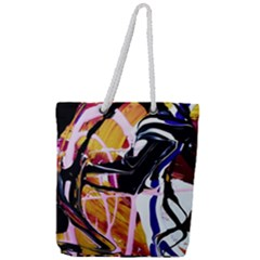 Immediate Attraction 2 Full Print Rope Handle Tote (large) by bestdesignintheworld