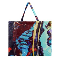 Roundway Ticket 1 Zipper Large Tote Bag by bestdesignintheworld