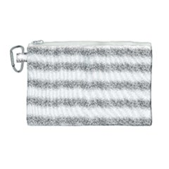 Stripe Black Canvas Cosmetic Bag (large)