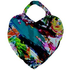 Tulips First Sprouts 6 Giant Heart Shaped Tote by bestdesignintheworld
