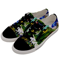 Bow Of Scorpio Before A Butterfly 8 Men s Low Top Canvas Sneakers by bestdesignintheworld