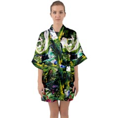 Bow Of Scorpio Before A Butterfly 8 Quarter Sleeve Kimono Robe by bestdesignintheworld