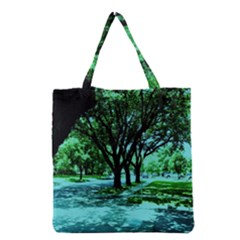 Hot Day In Dallas 5 Grocery Tote Bag by bestdesignintheworld