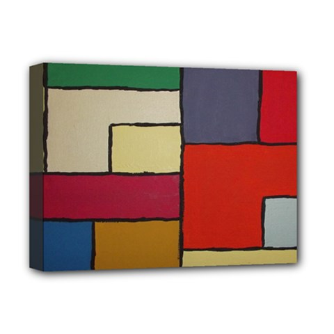 Color Block Art Painting Deluxe Canvas 16  X 12   by goodart
