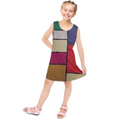 Color Block Art Painting Kids  Tunic Dress by goodart