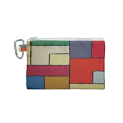 Color Block Art Painting Canvas Cosmetic Bag (small) by goodart