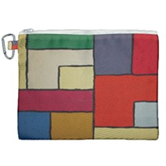 Color Block Art Painting Canvas Cosmetic Bag (xxl) by goodart