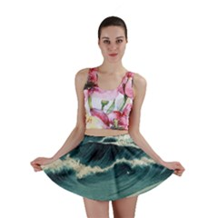 Waves Painting Mini Skirt by goodart
