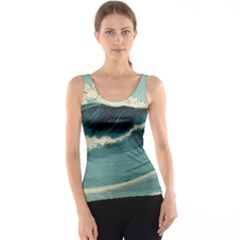 Waves Painting Tank Top by goodart