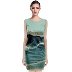 Waves Painting Classic Sleeveless Midi Dress by goodart