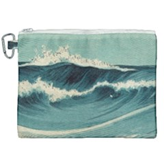 Waves Painting Canvas Cosmetic Bag (xxl) by goodart
