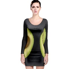 Fruit Avocado Long Sleeve Bodycon Dress
