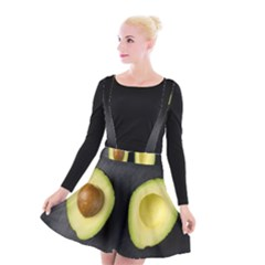 Fruit Avocado Suspender Skater Skirt
