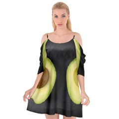 Fruit Avocado Cutout Spaghetti Strap Chiffon Dress by goodart