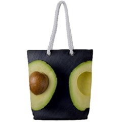 Fruit Avocado Full Print Rope Handle Tote (small)