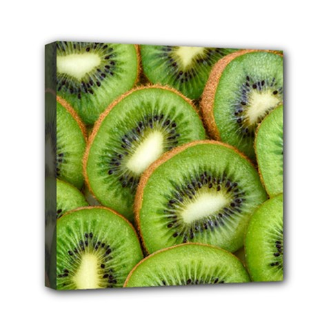 Sliced And Open Kiwi Fruit Canvas Travel Bag by goodart