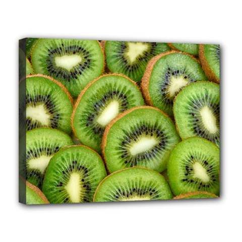 Sliced And Open Kiwi Fruit Canvas 14  X 11  by goodart