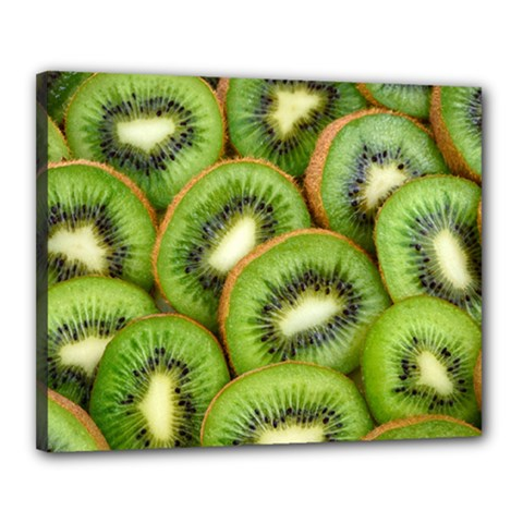 Sliced And Open Kiwi Fruit Canvas 20  X 16  by goodart
