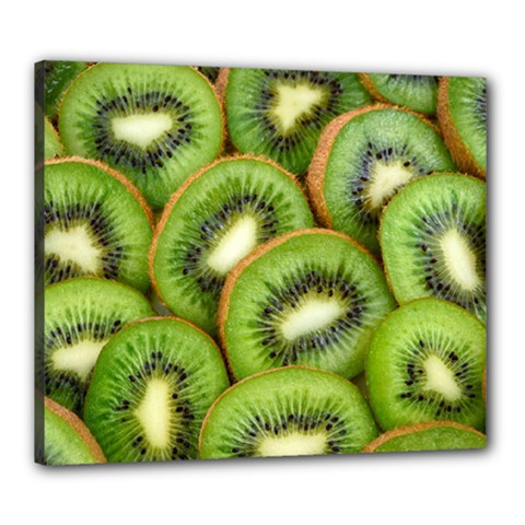 Sliced And Open Kiwi Fruit Canvas 24  X 20  by goodart
