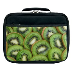 Sliced And Open Kiwi Fruit Lunch Bag by goodart