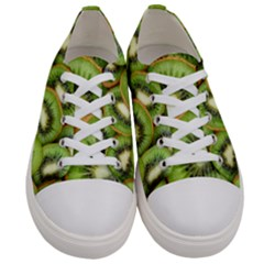 Sliced And Open Kiwi Fruit Women s Low Top Canvas Sneakers