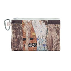 The Three Ages Of Woman  Gustav Klimt Canvas Cosmetic Bag (medium) by Valentinaart
