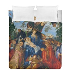 Feast Of The Rosary   Albrecht Dürer Duvet Cover Double Side (full/ Double Size) by Valentinaart
