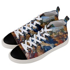 Feast Of The Rosary   Albrecht Dürer Men s Mid Top Canvas Sneakers by Valentinaart