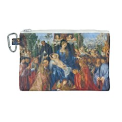 Feast Of The Rosary   Albrecht Dürer Canvas Cosmetic Bag (large) by Valentinaart