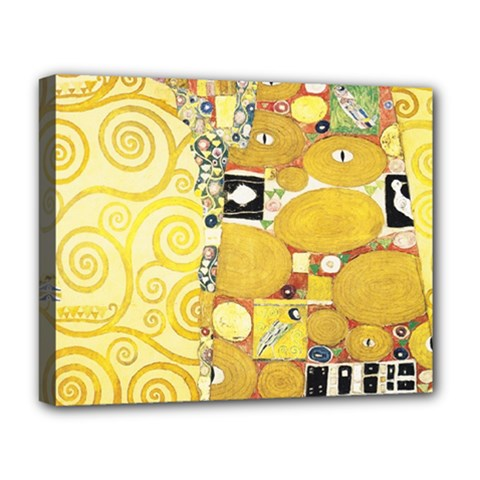 The Embrace   Gustav Klimt Deluxe Canvas 20  X 16   by Valentinaart