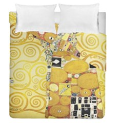 The Embrace   Gustav Klimt Duvet Cover Double Side (queen Size) by Valentinaart