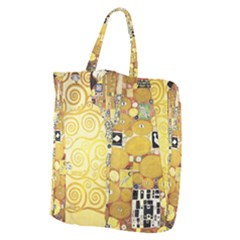 The Embrace   Gustav Klimt Giant Grocery Zipper Tote by Valentinaart