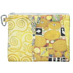 The Embrace   Gustav Klimt Canvas Cosmetic Bag (xxl) by Valentinaart