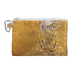 Adele Bloch-bauer I - Gustav Klimt Canvas Cosmetic Bag (large) by Valentinaart