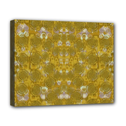 Golden Stars In Modern Renaissance Style Deluxe Canvas 20  X 16   by pepitasart