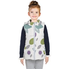 Leaves Flowers Abstract Kid s Hooded Puffer Vest by goodart