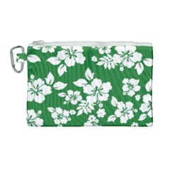 Hibiscus Flower Canvas Cosmetic Bag (large) by goodart