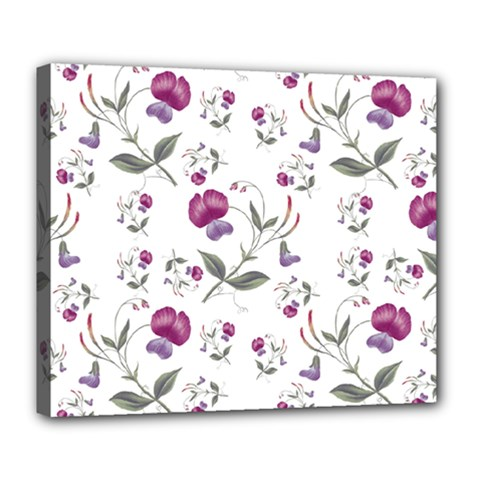 Floral Wallpaper Pattern Seamless Deluxe Canvas 24  X 20   by goodart