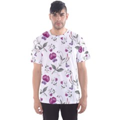 Floral Wallpaper Pattern Seamless Men s Sports Mesh Tee by goodart