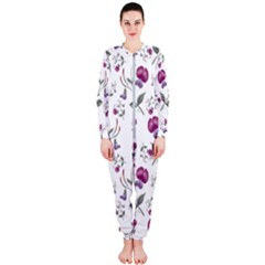 Floral Wallpaper Pattern Seamless Onepiece Jumpsuit (ladies)  by goodart