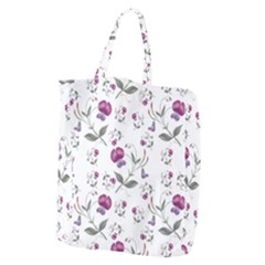 Floral Wallpaper Pattern Seamless Giant Grocery Zipper Tote