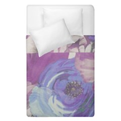Floral Vintage Wallpaper Pattern Pink White Blue Duvet Cover Double Side (single Size) by goodart