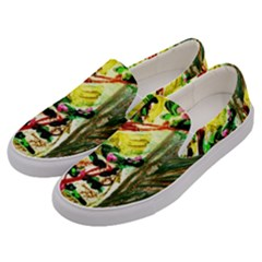 House Will Be Buit 4 Men s Canvas Slip Ons by bestdesignintheworld