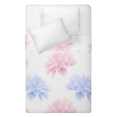 Blue And Pink Flowers Vector Clipart Duvet Cover Double Side (single Size) by goodart